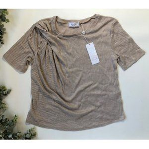 Sage the Label Womens Blouse Top Small Brown Basic